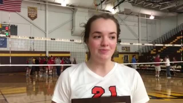 Doak had 14 assists and seven digs in the championship win over Batavia.