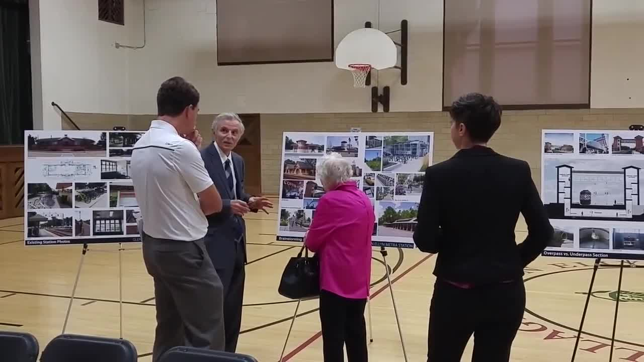 Residents attend a Aug. 2 public hearing on proposed improvements to the Metra station in downtown Glen Ellyn.