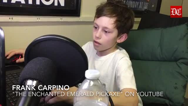 """The Gaming Goat in DeKalb threw Frank Carpino a pizza party for reaching his goal of 5,000 subscribers on his """"The Enchanted Emerald Pickaxe"""" YouTube channel"""