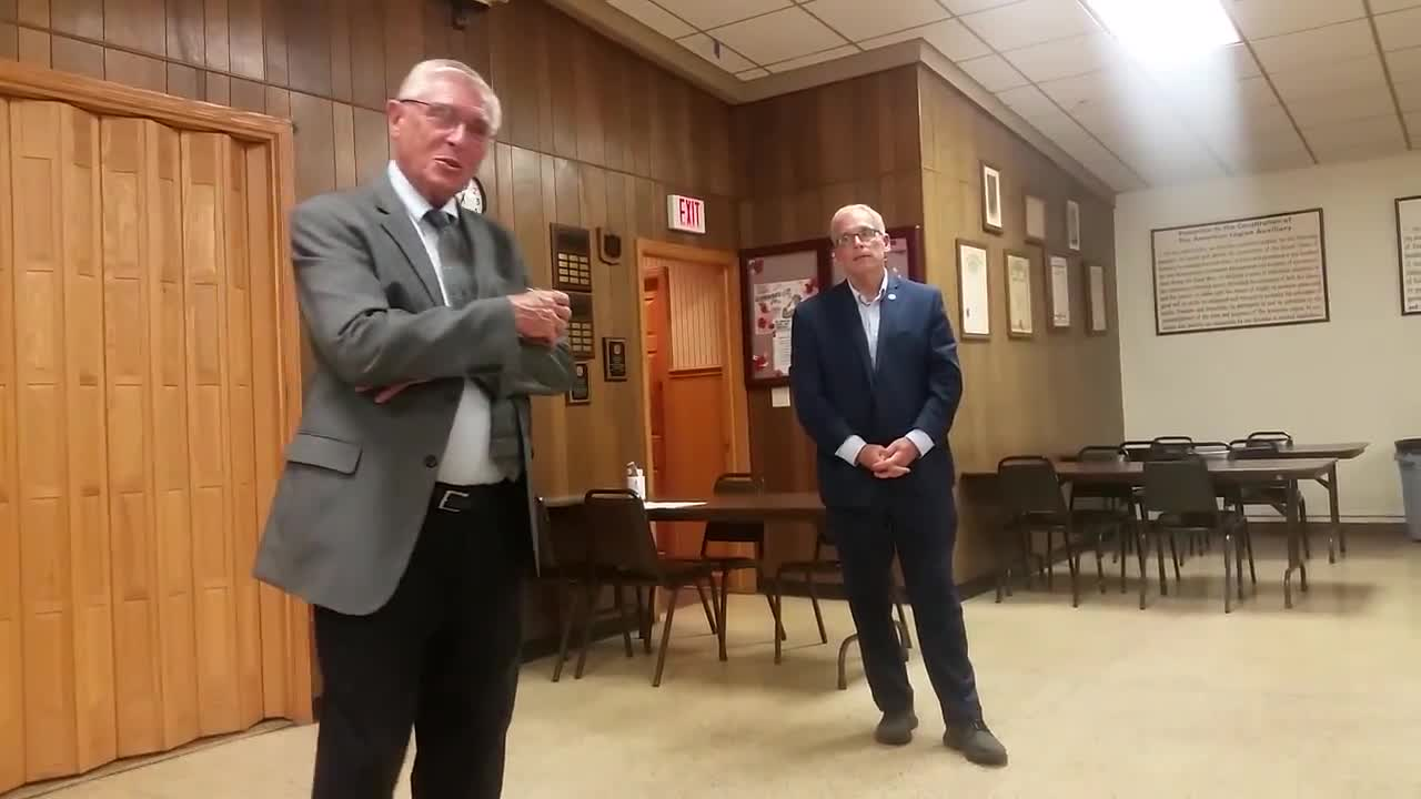 State Rep. Bob Pritchard, R-Hinckley, and State Sen. Dave Syverson, R-Rockford, answer Kishwaukee College President Laurie Borowicz's question as to what will happen next year when the Legislature tries to pass another state budget.