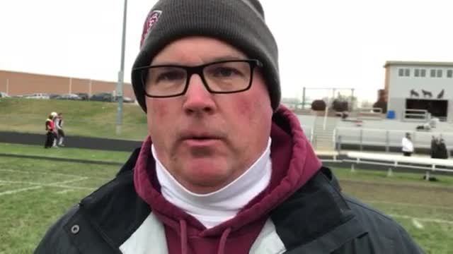 Chris Schremp talks about the Wolves' 42-7 win over Willowbrook in their Class 6A playoff quarterfinal game.