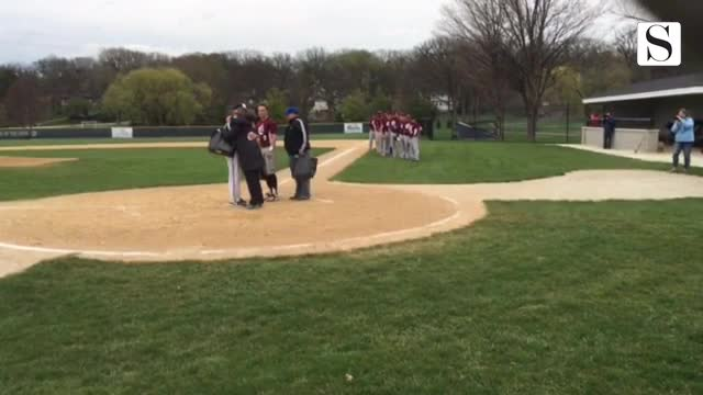 A little more video from Lisle vs. Westmont baseball game honoring former WHS player Charlie Donovan.