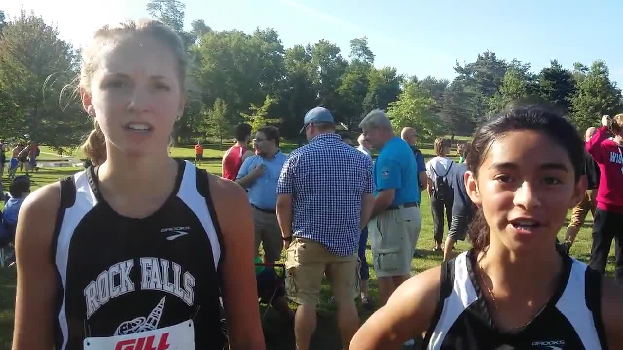 Rock Falls sophomores Bailee Fortney and Alex Gomez went 2-3 at the Rocket Run cross country meet in Rock Falls on Tuesday at Centennial Park.