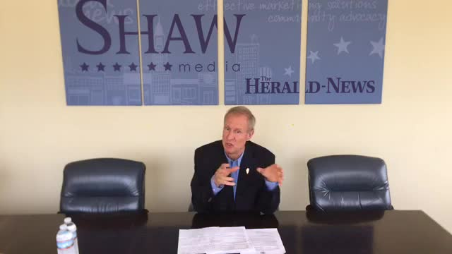 Gov. Rauner came to Joliet to speak with The Herald-News editorial board about SB1