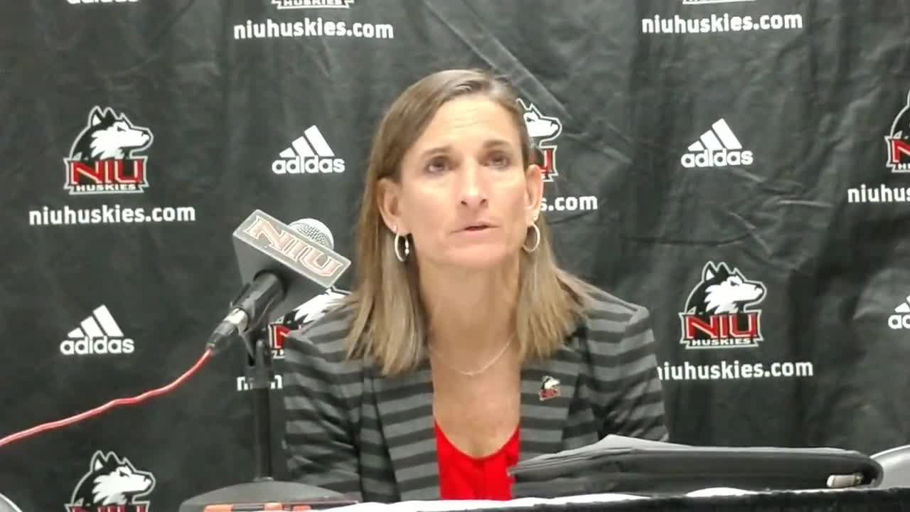 The NIU coach talks about the Huskies win against Loyola.