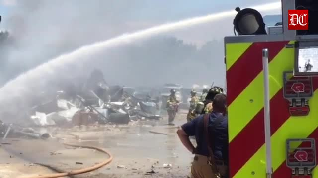 Controlled burn gets out of hand at B & O Used Auto Parts in Sycamore