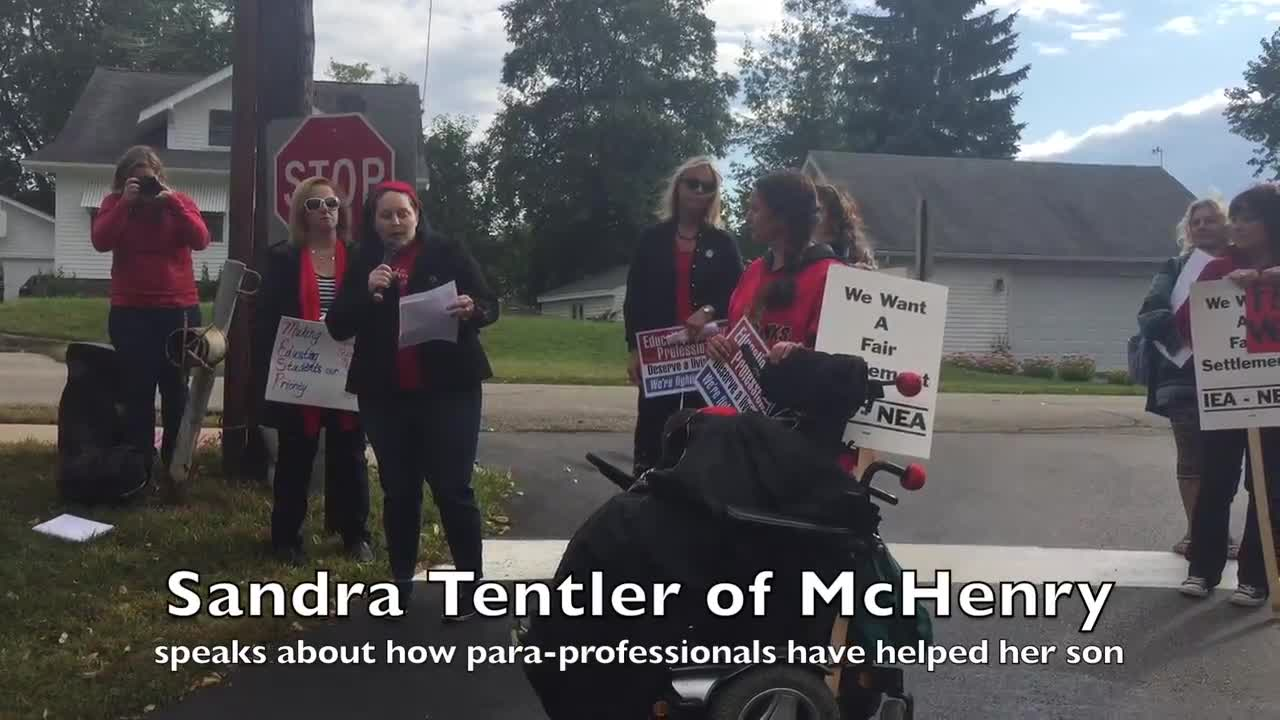 Support staff in the McHenry Educational Support Personnel union has been working without a contract since July. They marched Tuesday before a negotiation meeting where they are asking for fair wages and lower insurance costs.