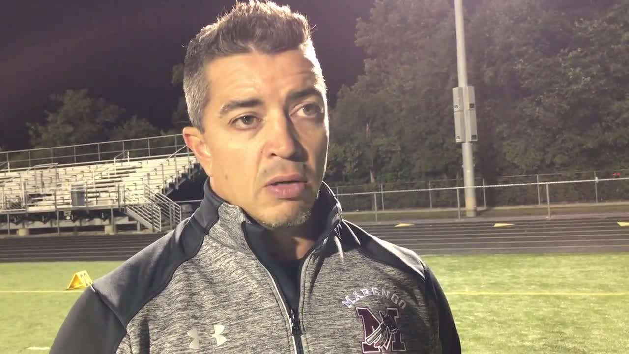 Marengo coach Paul Forsythe talks about loss to Elmwood Park
