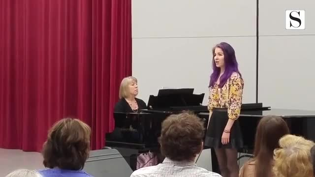 College of DuPage student Rosemary Davy on May 5 performed as part of the COD music department's student music recital.