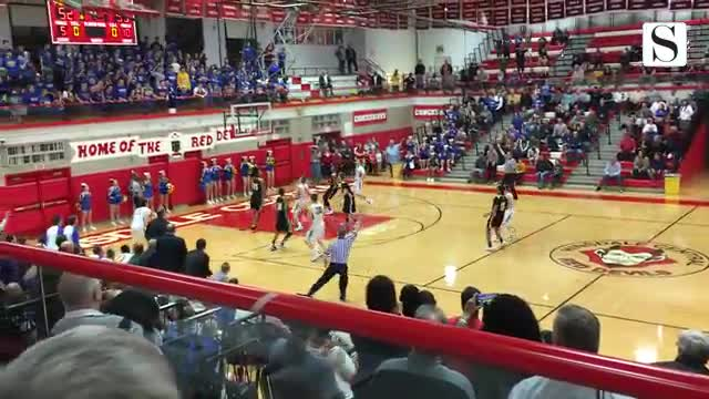 Rowan McGowen 3-pointer at the buzzer gives Wheaton North 55-53 win against Hinsdale South, spot in Hinsdale Central sectional championship game.