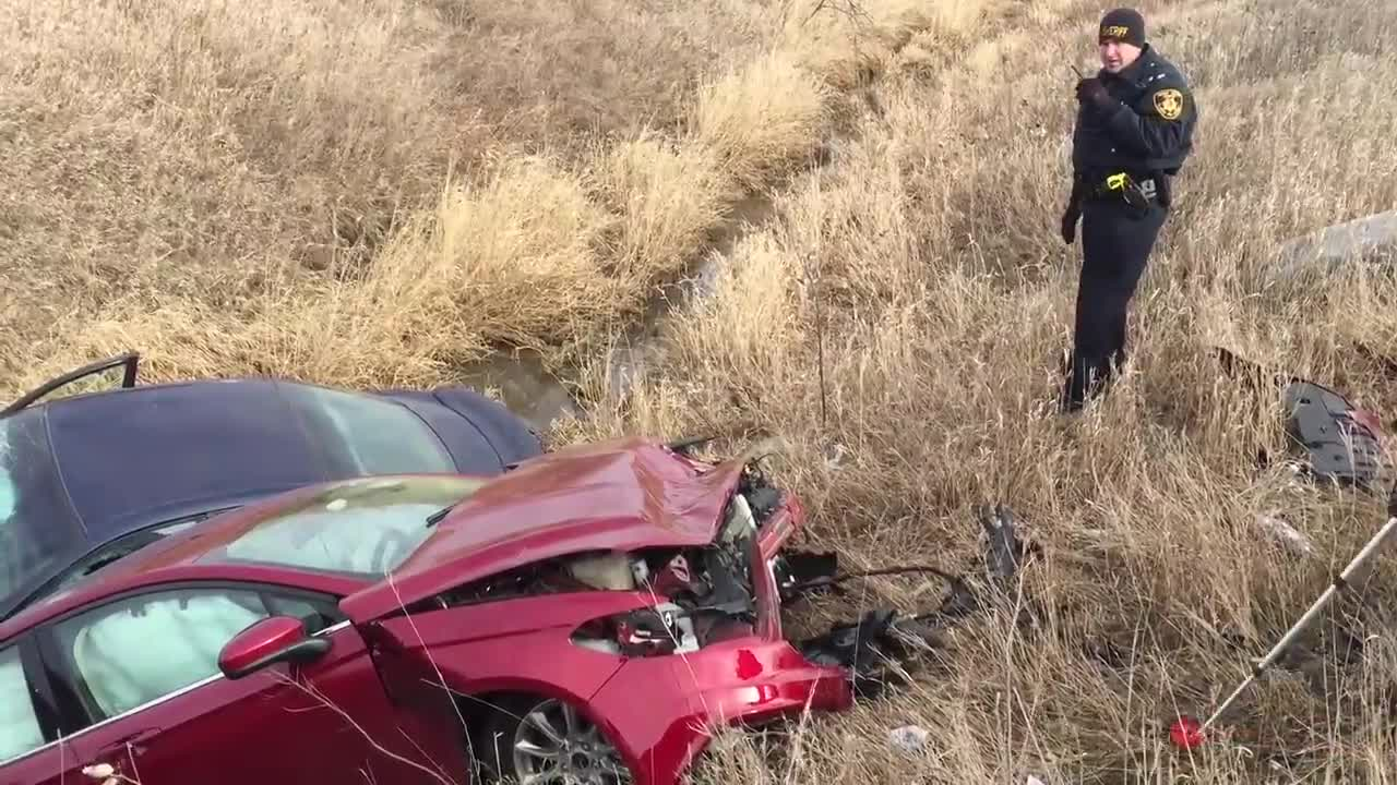 Two severe accidents happened minutes apart in Cortland at the intersection of Somonauk and Gurler Roads and in DeKalb at the intersection of Rt. 23 and Perry Rd. on Friday, Dec. 15, 2017.