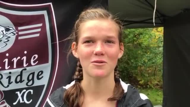 Prairie Ridge's Chelsea Gale talks about her 10th-place finish.