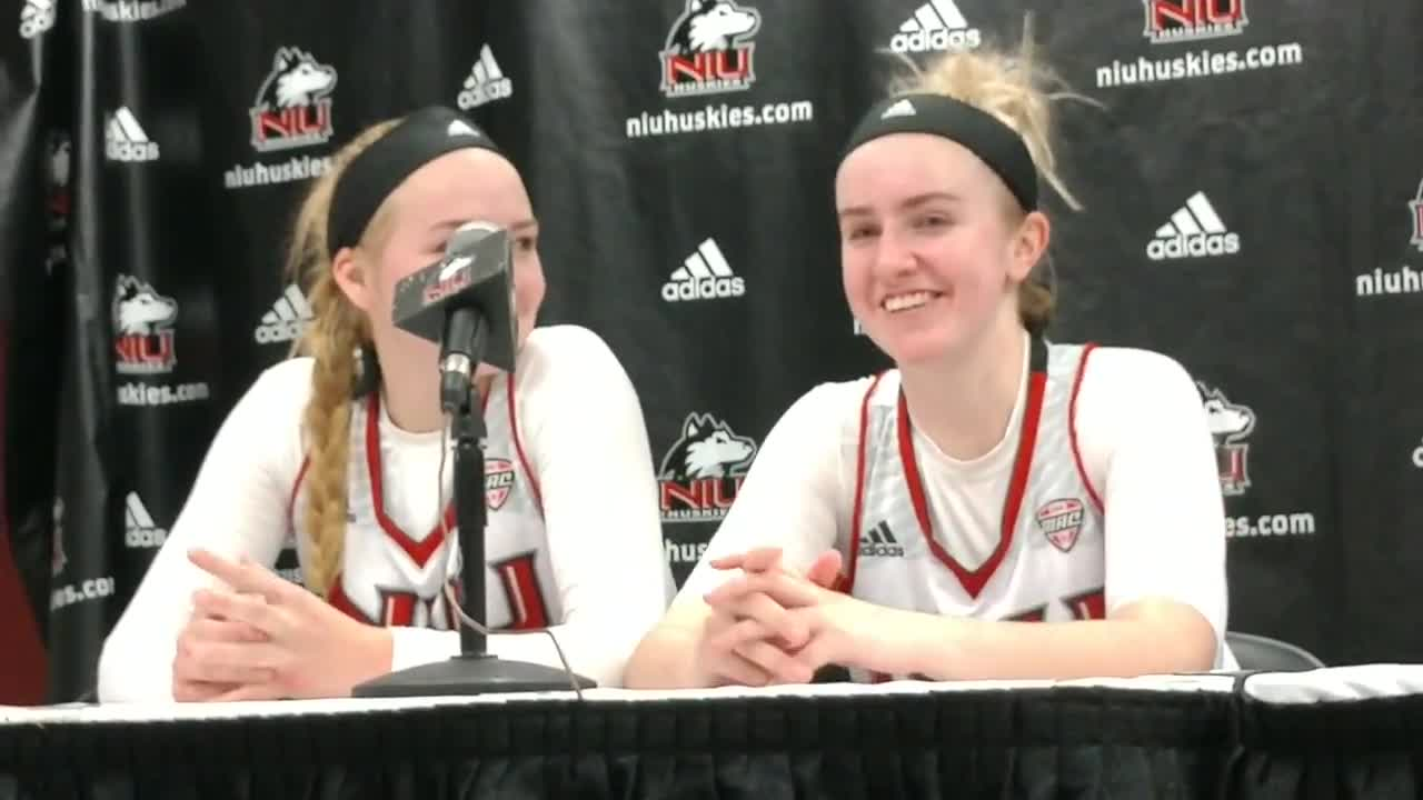 The NIU duo talks about reaching the 1,000 point mark in the same game.