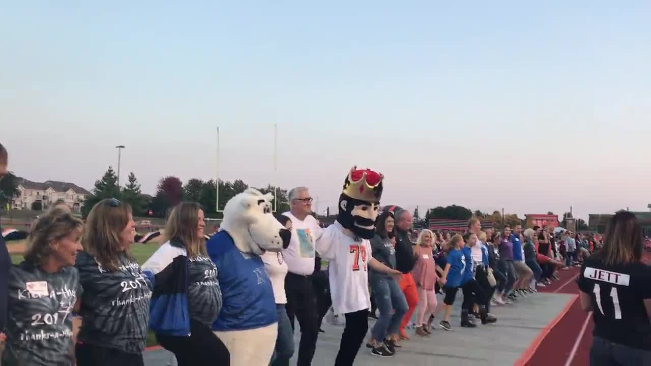The annual kick-a-thon fundraiser was held before the St. Charles East/St. Charles North varsity football game Sept. 15.