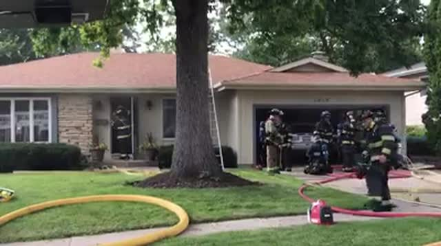 McHenry Township Fire Protection District crews respond to the fire Friday