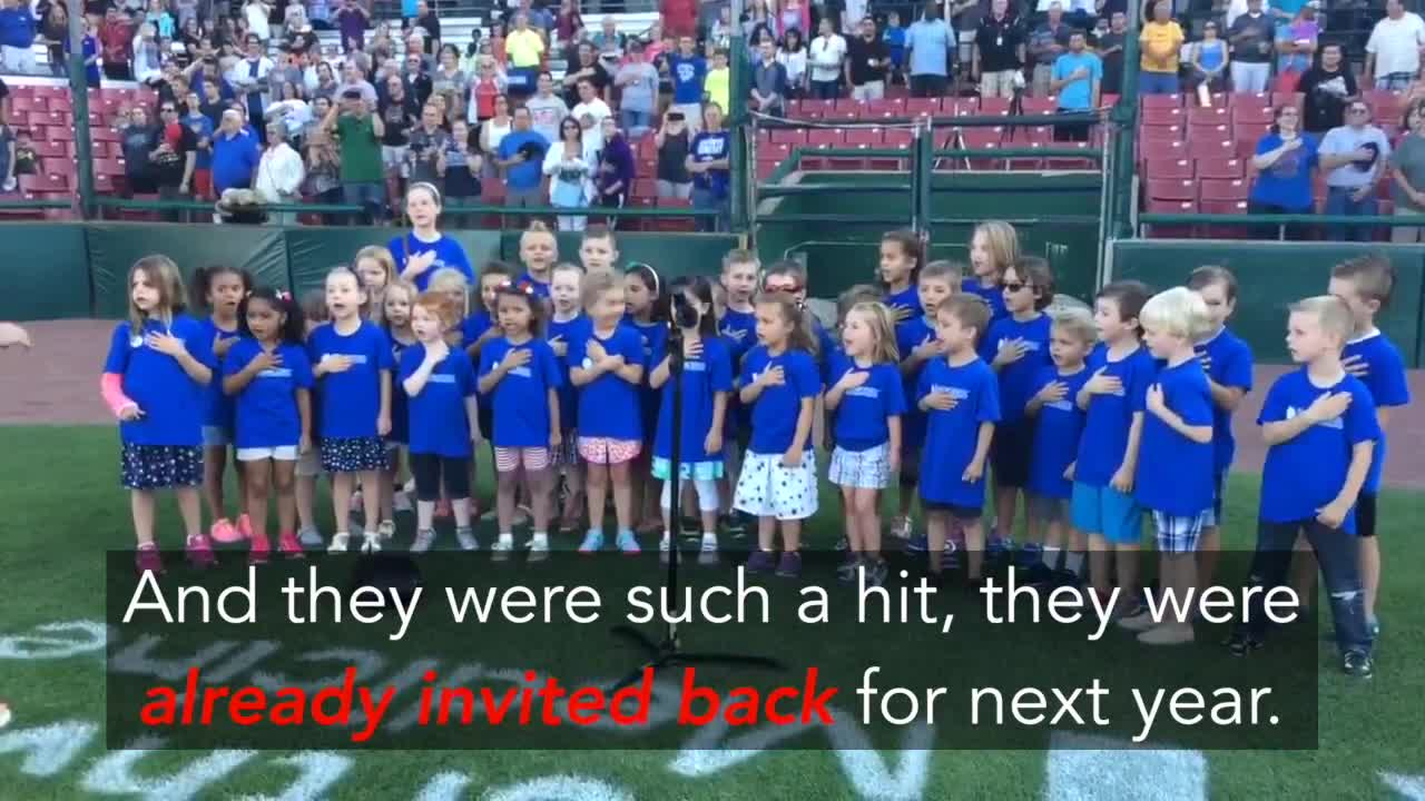 These preschoolers were such a hit, they were already asked back for next year